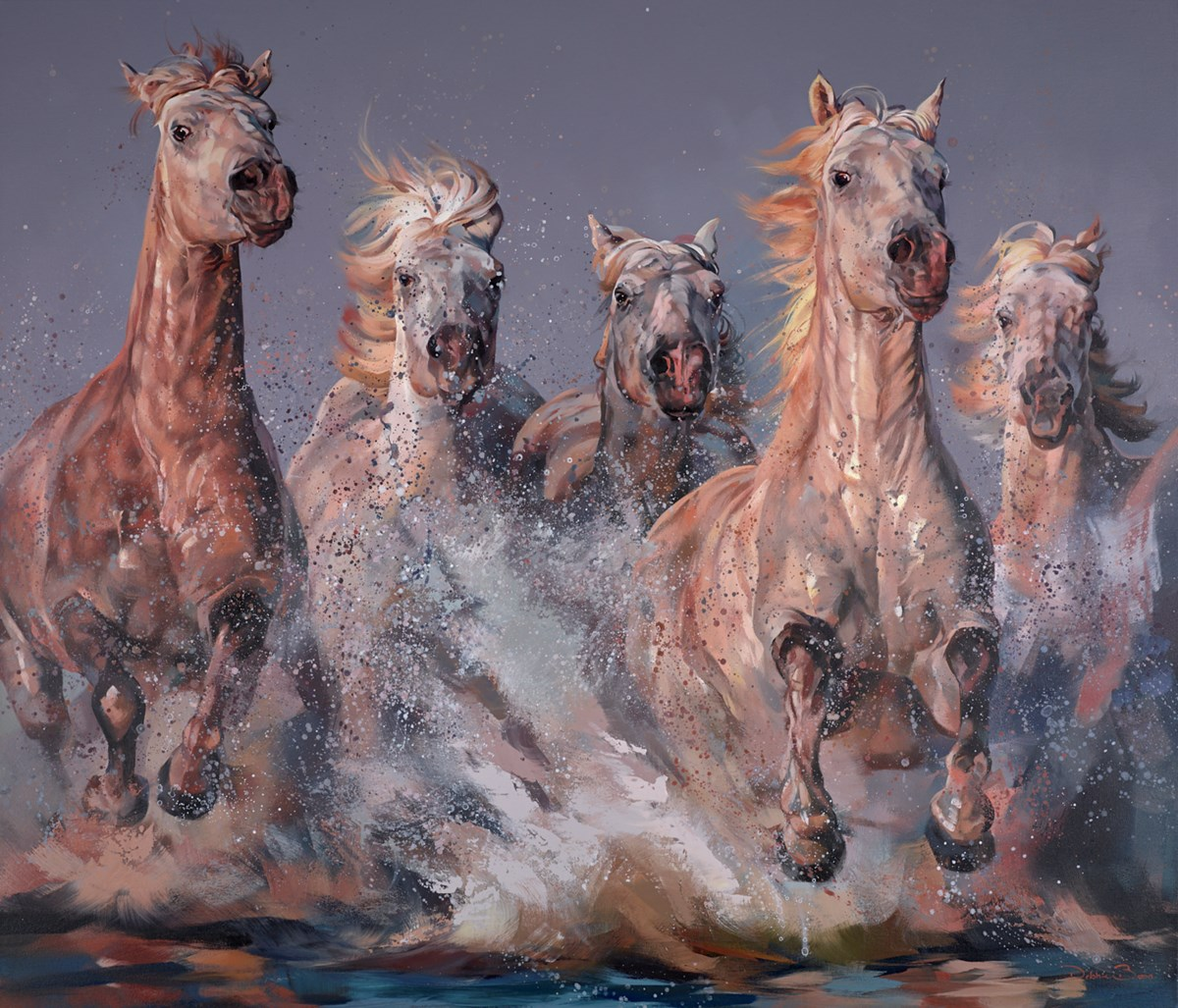 Wild Camargue by debbie boon -  sized 55x47 inches. Available from Whitewall Galleries